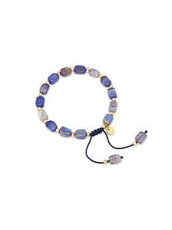 Lola Rose Starla bracelet in blue stripe agate