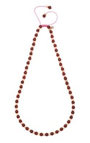 Kenley necklace in ruby agate