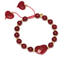 Lola Rose Putney Bracelet in Red Plum Quartzite.