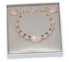 Lola Rose Putney Bracelet in Rose Quartz.