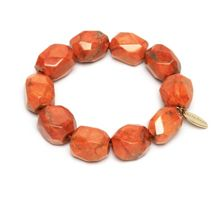 Lola Rose Amba Bracelet in Fire Orange Magnesite