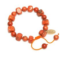 Lola Rose Sury Bracelet in Fire Orange Magnesite