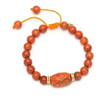 Lola Rose Eda Bracelet in Fire Orange Magnesite