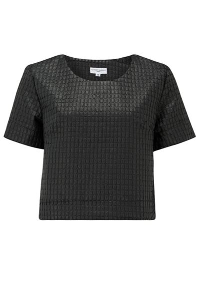 Almost Famous Quilted Crop Tee