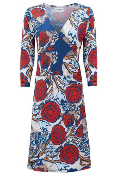 Almost Famous Oriental Floral Wrap Dress