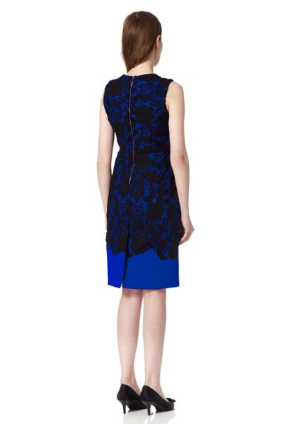 Almost Famous Contrast Lace Dress