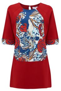 Almost Famous Oriental Floral Panel Tunic