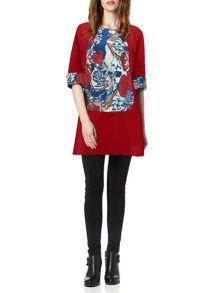 Oriental Floral Panel Tunic