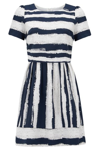 Almost Famous Abstract Stripe Dress