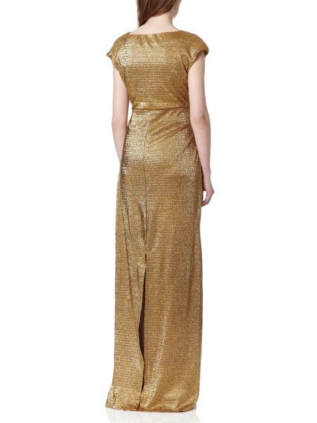 Almost Famous Metallic Foil Gown