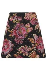 Almost Famous Floral Jacquard Skirt