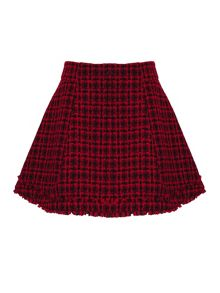 Almost Famous Tweed Flare Skirt