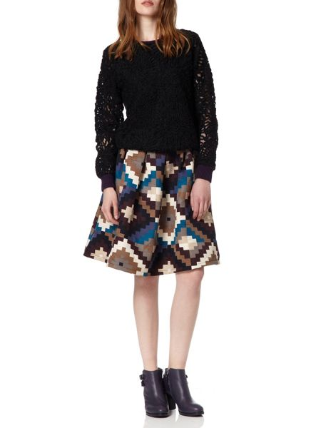 Almost Famous Aztec Skirt