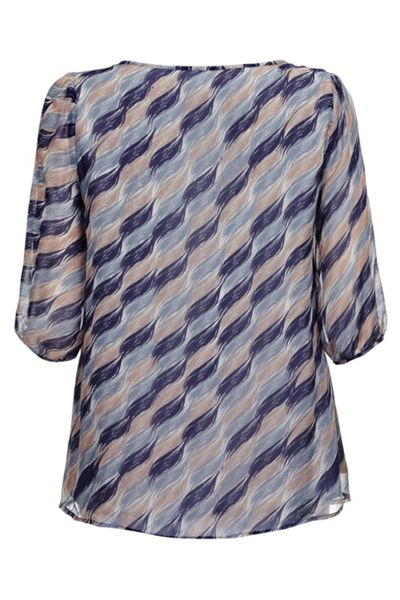 Almost Famous Brush Stroke Silk Blouse