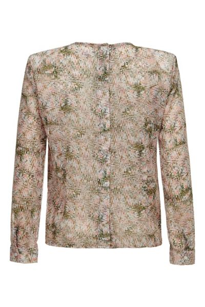 Almost Famous Abstract Orchid Chiffon Blouse