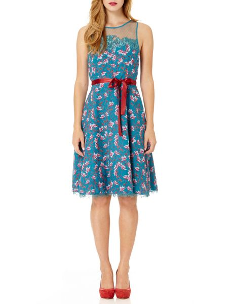 Almost Famous Painted Floral Chiffon Dress
