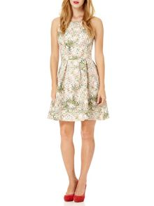 Almost Famous Abstract Orchid Skater Dress