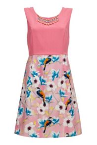Almost Famous Floral Bird Skirt Dress