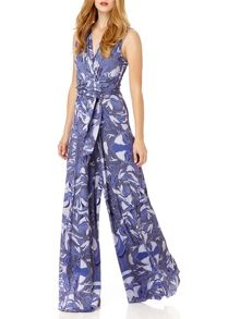 Almost Famous Rope Print Jumpsuit