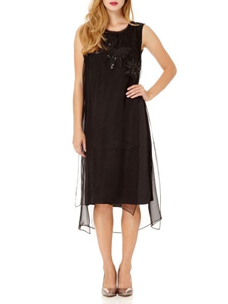 Almost Famous Sheer Silk Party Dress