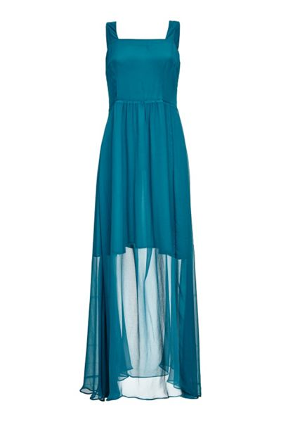 Almost Famous Silk Maxi Dress