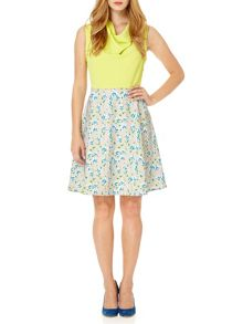 Almost Famous Painted Floral Skirt Dress