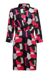 Almost Famous Abstract Shirt Dress