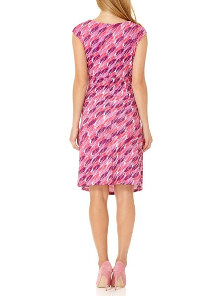Almost Famous Brush Stroke Slinky Dress