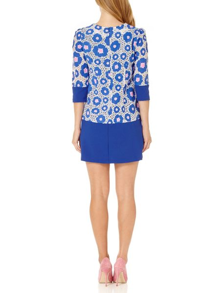 Almost Famous Floral Block Tunic Dress