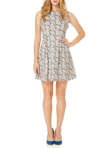Almost Famous Leaf Print Shift Dress