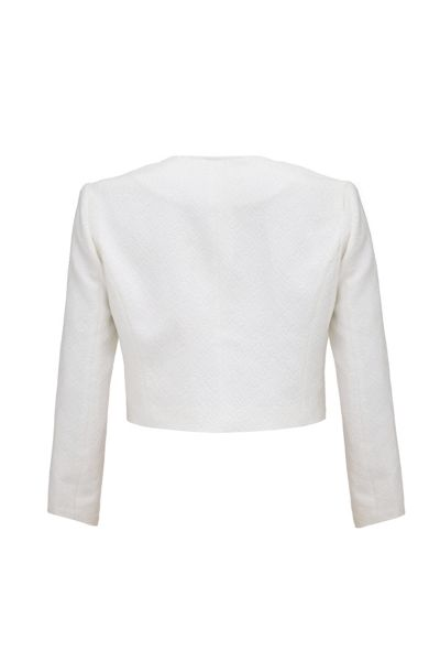 Almost Famous Textured Cropped Jacket