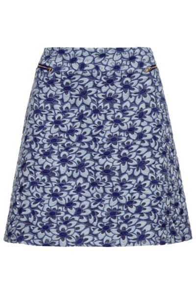 Almost Famous Embroidered Floral MinI Skirt