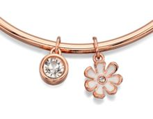 Preciosa crystal flower thin bangle