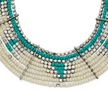 Multi layer beaded collar necklace