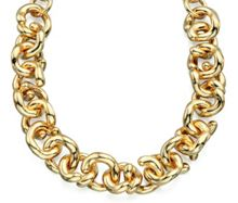 Twist link chain necklace