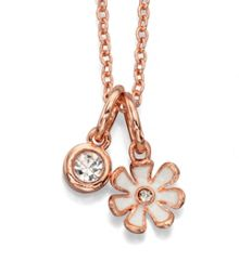 Preciosa crystal white flower necklace