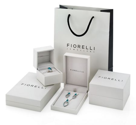 Fiorelli Silver Twisted CZ Marquise and Pave Earrings