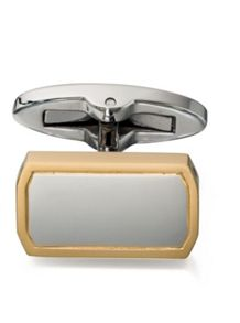 Octagonal cufflinks gold edge