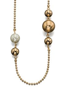 Fiorelli Costume Pearl and bead necklace