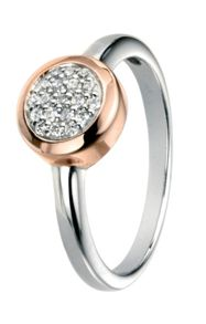 Elements Silver Silver and rose gold ring