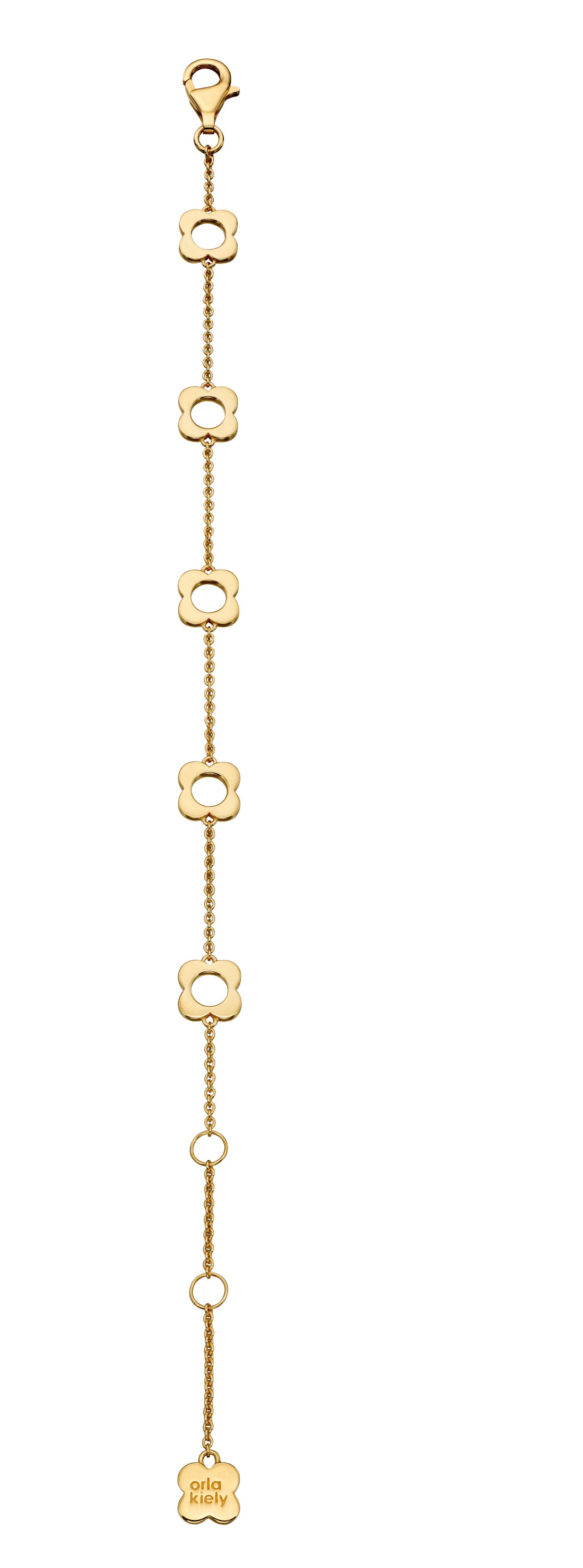 Orla Kiely Four Point Flower Bracelet In Gold, Gold