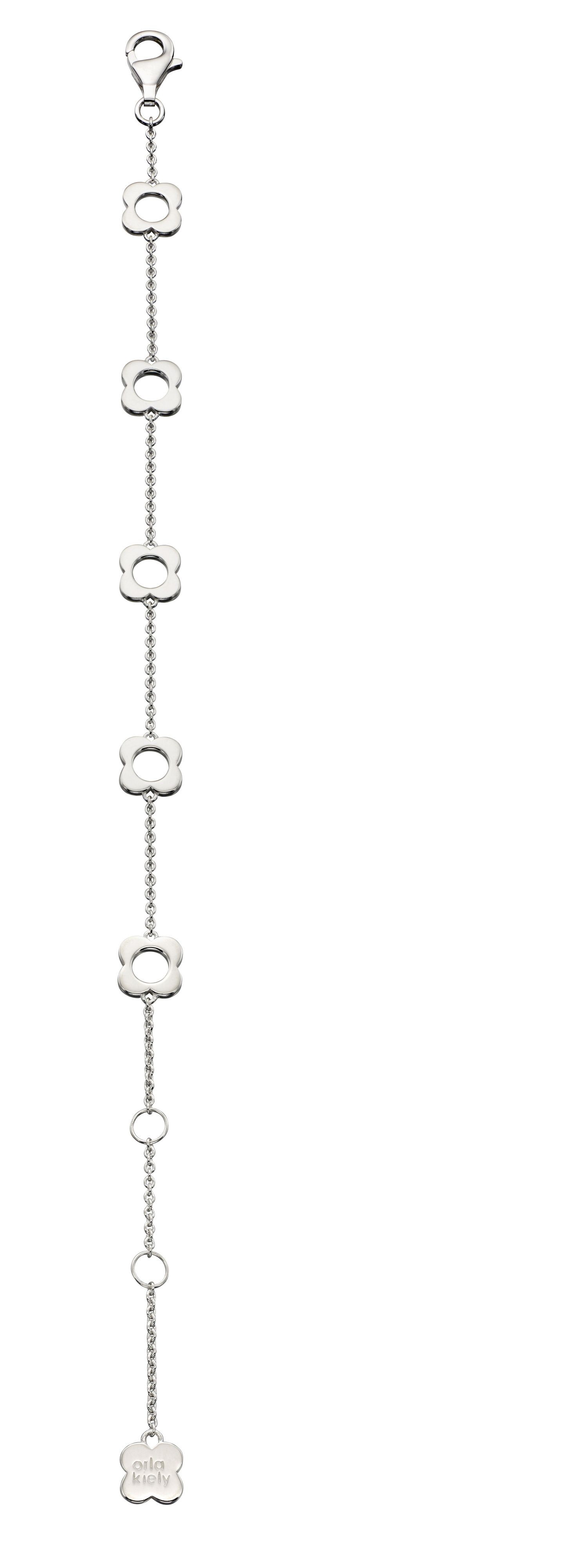 Orla Kiely Flora Four Point Flower Bracelet In Silver, Silver