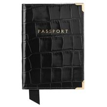 Aspinal of London Plain passport cover