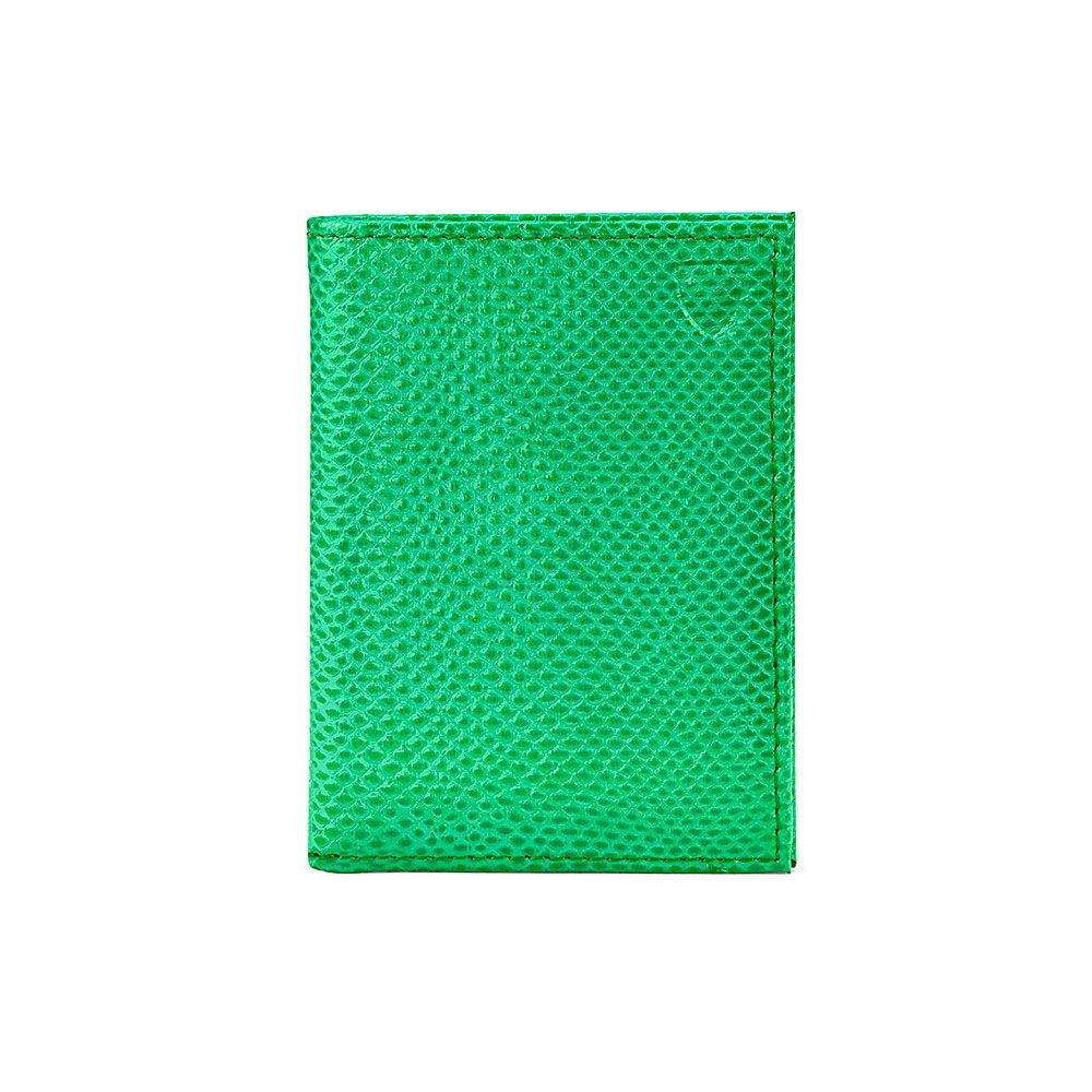 Aspinal of London Double credit card case Grass