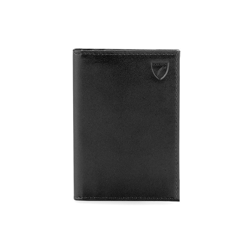 Aspinal of London Double credit card case Black Geo