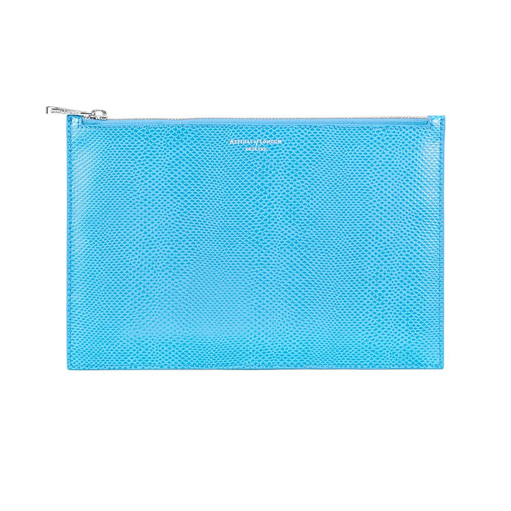 Aspinal of London Essential large pouch Aquamarine