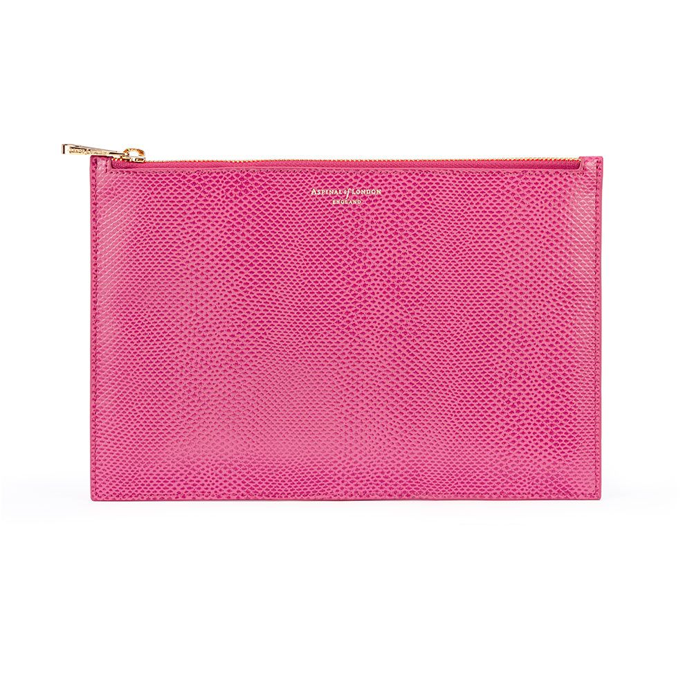 Aspinal of London Essential large pouch Raspberry