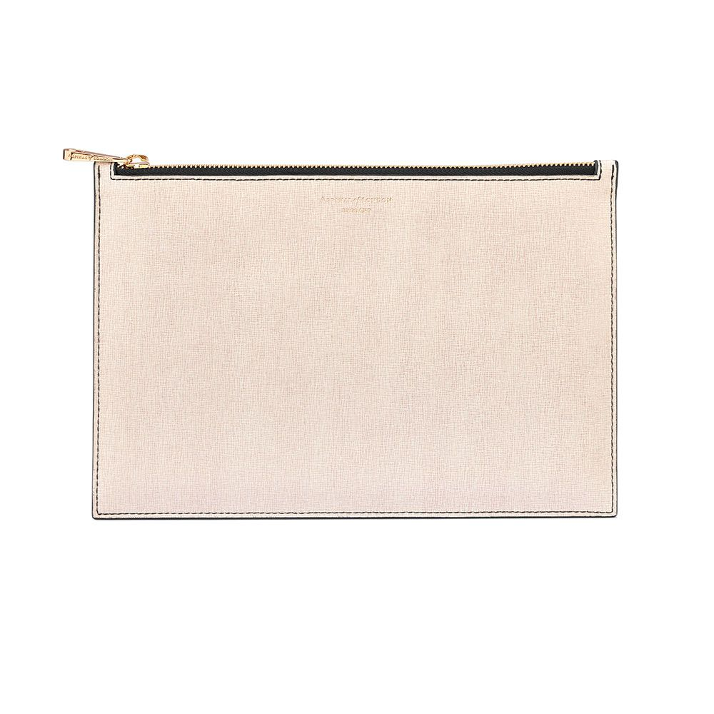 Aspinal of London Essential large pouch Monochrome