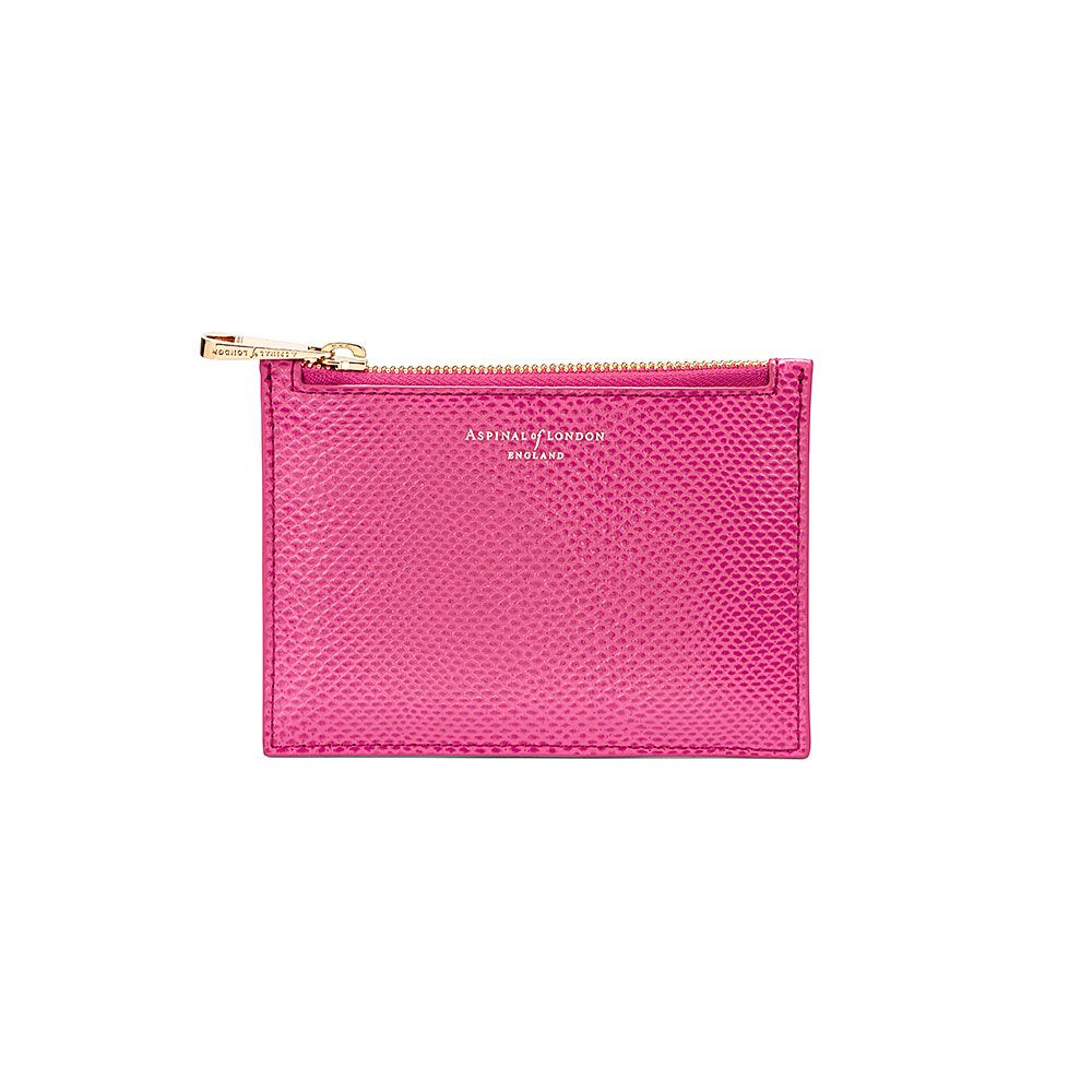 Aspinal of London Essential small pouch Raspberry