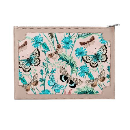 Aspinal of London Zip top botanical pouch